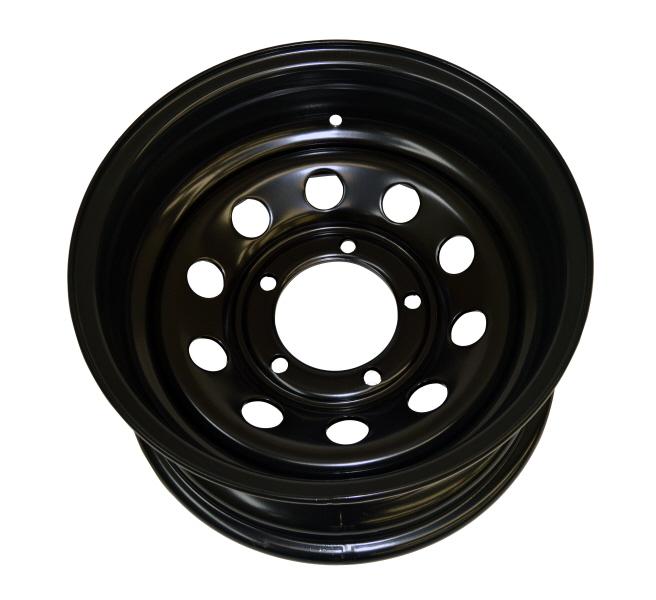 """Suzuki 16/"""" Black 7/"""" Modular Steel Wheel ET-30"""